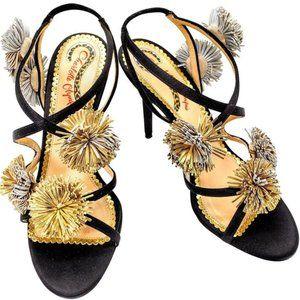 NIB Charlotte Olympia Sz 38 Embellished Satin Heel